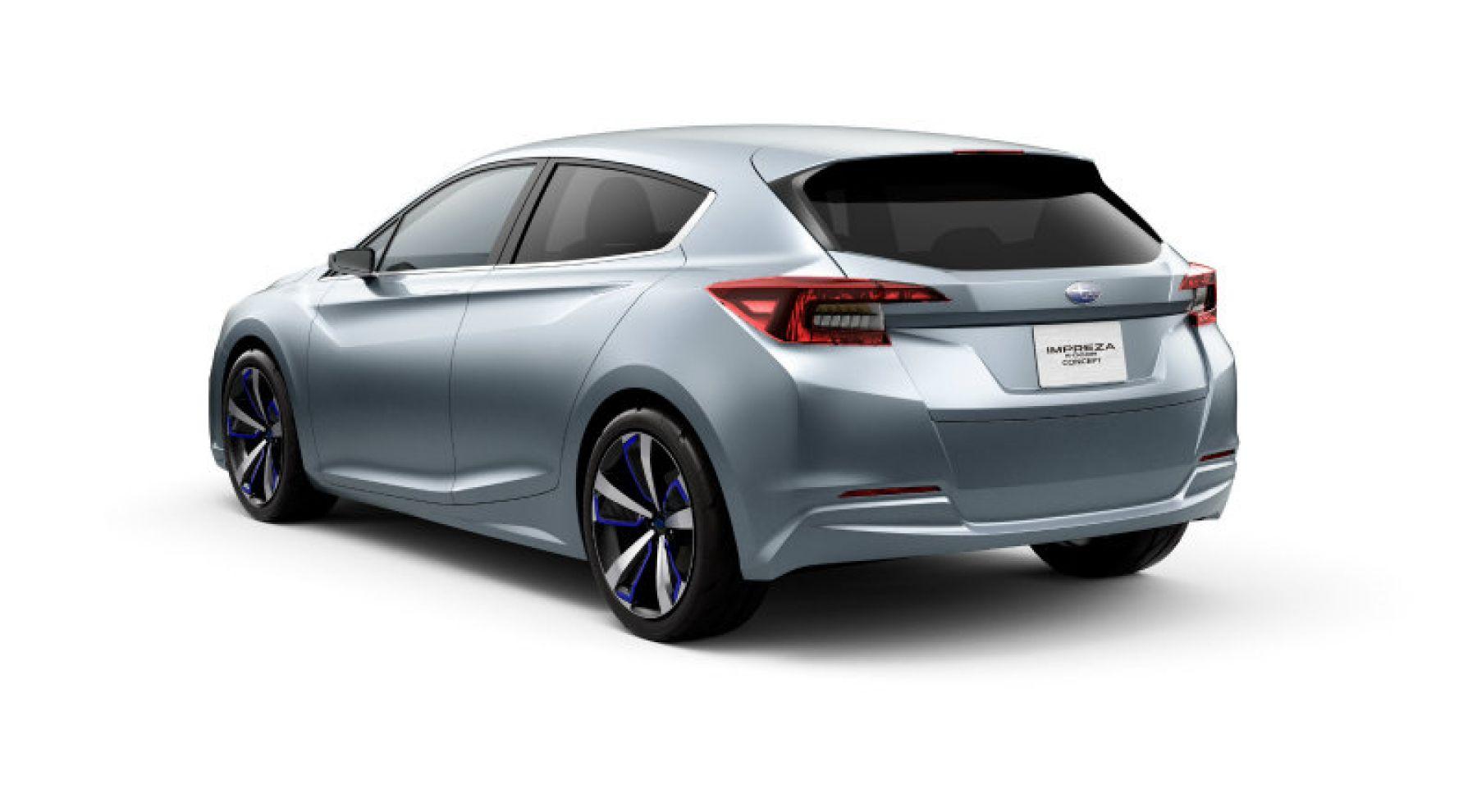 圖 Subaru Impreza概念車廠圖現身預告小改款的設計趨勢 國